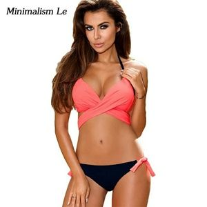 Other - Pink two pc  woman swimsuit